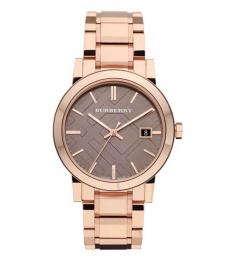Burberry Rose Gold Large Check Watch