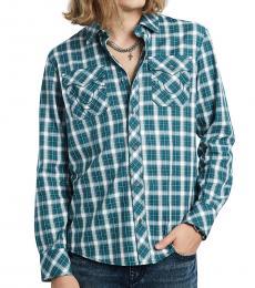 True Religion Green Plaid Utility Shirt