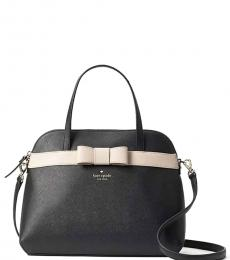 Kate Spade Black/Warm Beige Kirk Park Julita Medium Satchel