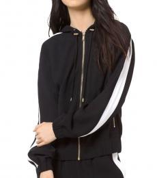 Michael Kors Black Contrast Stripe Hooded Jacket