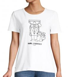White Logo Choupette Graphic T-Shirt