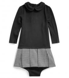 Ralph Lauren Baby Girls Black Houndstooth Dress