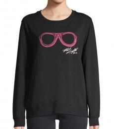 Black Sunglasses Graphic Sweatshirt