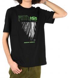 Black Printed Just T-Shirt