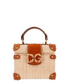 Dolce & Gabbana Beige DG amore Mini Satchel