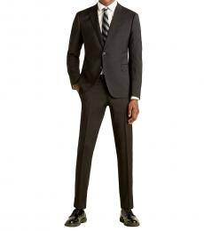 Emporio Armani Black M Line Wool Suit