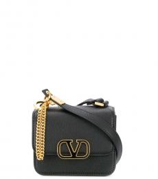 Valentino Garavani Black V Sling Mini Crossbody