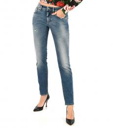 Blue Stone Washed Jeans