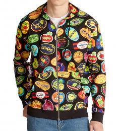 Black Allover Hoodie Jacket