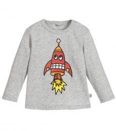 Stella McCartney Baby Boys Grey Rocket T-Shirt