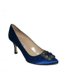 Manolo blahnik Blue Hangisi Jeweled Heels