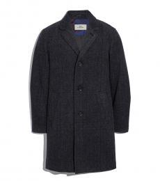 Coach Charcoal Long Wool Topcoat