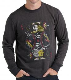 Dark Grey Graphic Sweatshirt