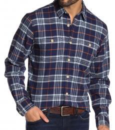 Dark Blue Western Stretch Fit Shirt