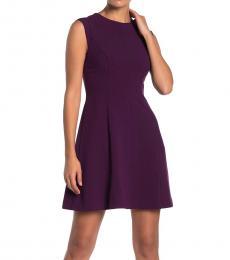 Vince Camuto Purple Petite Fit & Flare Dress