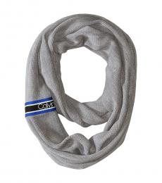 Calvin Klein Heather Mid Grey Racer Stripe Infinity Scarf