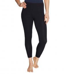 Betsey Johnson Black-Shirring Side Panel Leggings