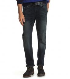 True Religion Dark Grey Geno Flap Pocket Slim Leg Jeans