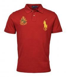 Ralph Lauren Red Custom Slim Fit Polo