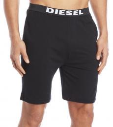 Diesel Black Logo Knit Shorts