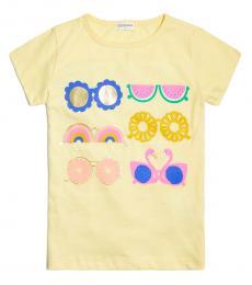 J.Crew Girls Yellow Graphic T-Shirt