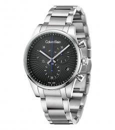 Calvin Klein Silver-Black Steadfast Watch