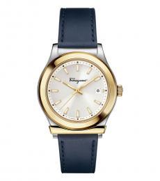 Salvatore Ferragamo Blue Round Modish Watch