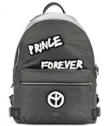 Dolce & Gabbana Grey Prince Forever Large Backpack
