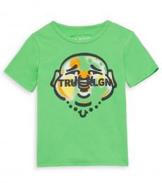 True Religion Little Boys Green Infrared Smiling Buddha T-Shirt
