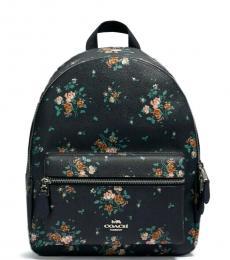 Coach Midnight Charlie Rose Bouquet Medium Backpack