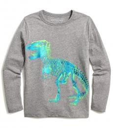 J.Crew Boys Heather Grey Dinosaur T-Shirt