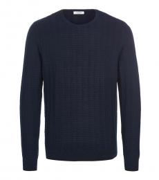 Calvin Klein Dark Blue Knitted Regular Fit Sweater