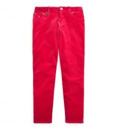 Ralph Lauren Girls Pink Skinny Fit Stretch Corduroy Pants