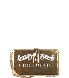 Dolce & Gabbana Gold Metallic Cioccolato Clutch