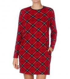 Ralph Lauren Red Prt Plaid Sleepshirt Nightgown