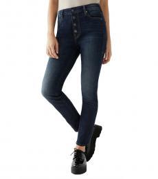 True Religion Washed Dark Halle Super Skinny Jean
