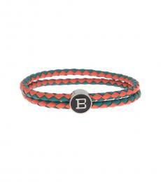 Ben Sherman Orange Braided Bracelet