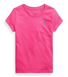 Ralph Lauren Girls Accent Pink Jersey T-Shirt