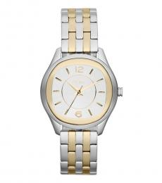 DKNY Silver-Gold Two Tone Watch