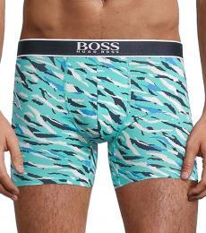 Hugo Boss Sky Blue Camo-Print Boxer Briefs