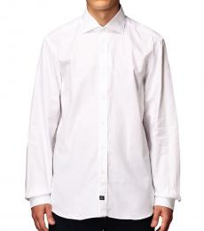 Fay White Italian Collar Basic Shirt