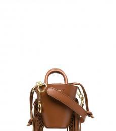 Brown Cecilya Mini Bucket Bag