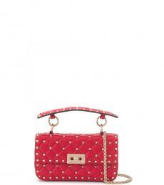 Valentino Garavani Red Rockstud Spike Mini Shoulder Bag