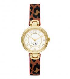 Kate Spade Leopard print Rainey Park Watch