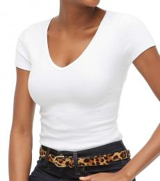 J.Crew White V-Neck Slim Fit T-Shirt