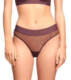 DKNY Black Plum Soft Tech Mesh Bikini