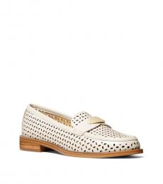 Michael Kors Light Cream Finley Perforated Loafers