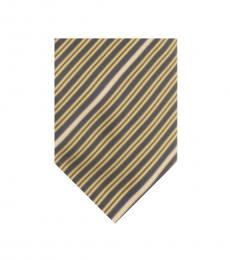 Moschino Yellow Stripe Tie