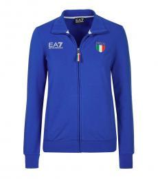Emporio Armani Blue Sweatshirt Jacket
