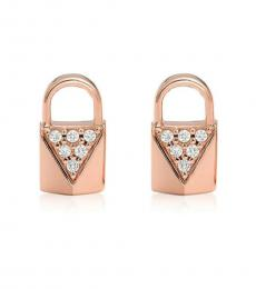 Rose Gold Envelope Stud Earrings